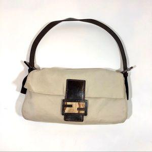 Authentic Fendi Baguette Bag Sandstone Buckle